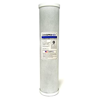 "Hydronix CB-45-2005 NSF Carbon Block Filter 4.5"" OD X 20"" Length, 5 Micron (B00D04CAPQ) 