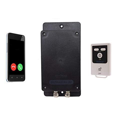 Covert Battery GSM Alarm, N/O & N/C Wired Cable Input, Contacts up to 3 x key-holders, Ideal for Sheds or Garages (No…
