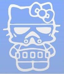 HELLO KITTY STAR WARS STORM TROOPER STICKERS SYMBOL 5.5