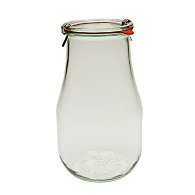 Weck 739 Tulip Jar - 2.5 Liters, Set of 2