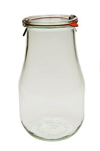 Weck 739 Tulip Jar - 2.5 Liters, Set of (Tulip Jar)