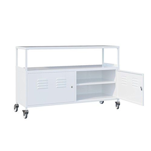 Tuscany Metal Lockable Storage File Cabinet With Rolling Casters , White (White) (Vintage Metal Lockers compare prices)