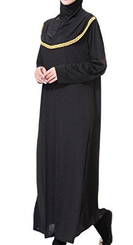 Este Larga Coolred nica Costura Oro Cuello De Medio mujeres rabe T Recortar Alto Musulmanes 4YRSaPRwxq