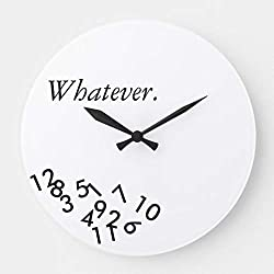 Whatever Modern Stylish Wall Clocks Large Decorative Silent Non-Ticking Wood Clock for Women 16 Inches