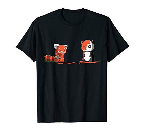 Panda, Red Panda T shirt, Cute I Love Pandabear Tshirt -