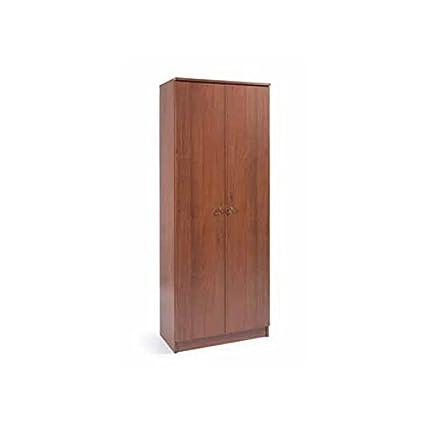 Armadio scarpiera in legno nobilitato 2 ante noce antico 6 ripiani ...