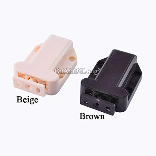 10PCS Push To Open Beetles Shape Cabinet Catches Door Drawer Cabinet Catch Touch Latch Cupboard - (Color: Brown) by Kasuki (Image #6)