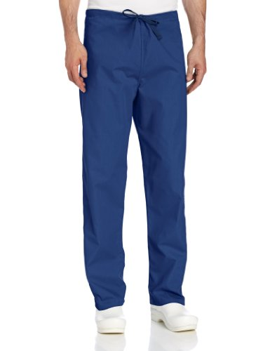 Landau Big and Tall Comfort Stretch One-Pocket Reversible Drawstring Scrub Pant, Navy, 4X-Large