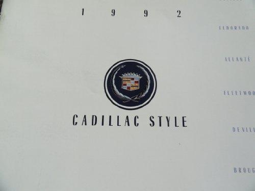 1992 Cadillac Seville / Eldorado / Allante / Fleetwood / Deville / Brougham Sales Brochure