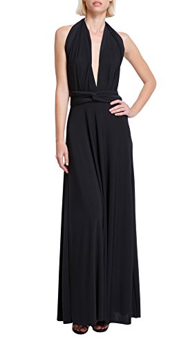 Von Vonni Women's Transformer/ Infinity Dress, Long One Size Fits All Black (Transformers Dress)