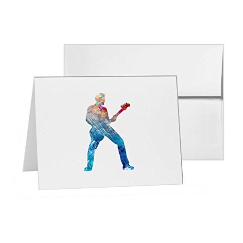Guitar Rock Star , Blank Card Invitation Pack, 15 cards at 4x6, with White Envelopes, Item 1321884