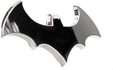 Batman 3D Chrome Auto Emblem – (4.2″ x 2″) – The Dark Knight Decal For Cars, Trucks, SUVs