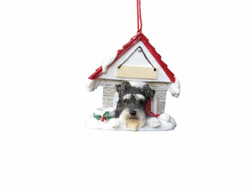 Schnauzer, Uncropped Ornament A Great Gift For Schnauzer, Uncropped Owners Hand Painted and Easily Personalized