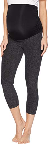 Beyond Yoga Women's Space Dye Performance Maternity Capri Leggings, Black/Steel,...