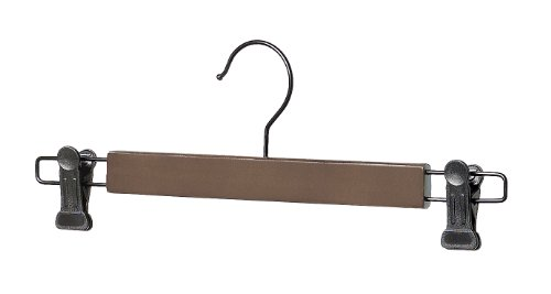 Whitmor Wood Skirt Hangers, S/5