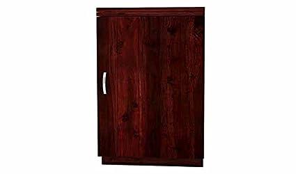 Aprodz Sheesham Wood Wine Storage Redmond Stylish Bar Cabinet for Living Room | Mahogany Finish