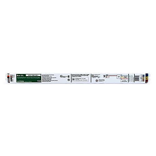 Lutron ECO-T528-120-2 - 120 Volt - Dimmable - Programmed Start - Ballast Factor 1.0 - Power Factor 95 - Min. Temp. Rating 50 Deg. F - Operates 2 F28T5 Fluorescent Lamps