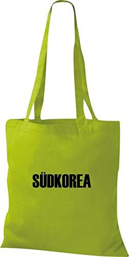 Corea Fútbol Del Bolsa Países Lima Yute Verde De Tela Land Sur 81ptwqWw