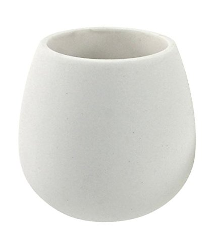 Gedy Opuntia Toothbrush Holder Made From Thermoplastic Resins and Stone, White