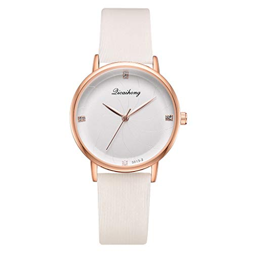 - Qvwanle Women Elegant Simple Stylish Sea Thread Flat Dial with Quartz Ladies Quartz Watch (White)