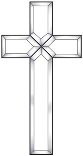 Exquisite Cluster Large Clear Beveled Glass Cross