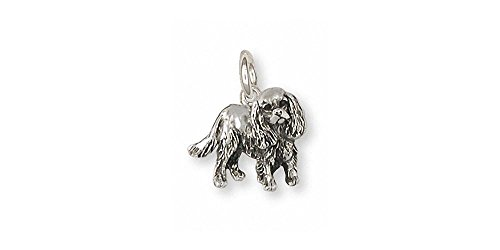 Cavalier King Charles Spaniel Jewelry Sterling Silver Cavalier King Charles Spaniel Charm Handmade Dog Jewelry CV29-C