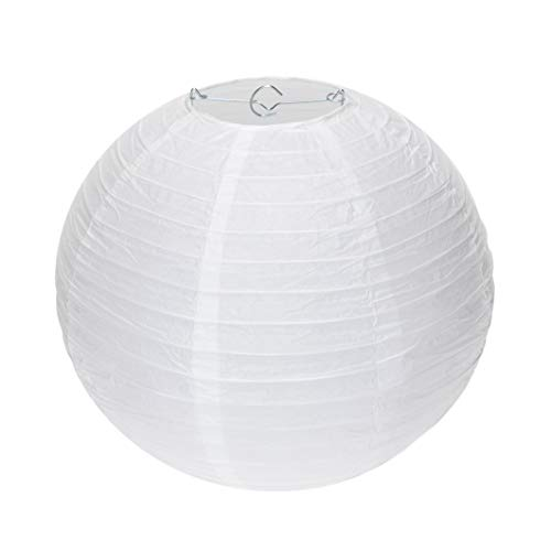 Special Feelings 25 Pack White Paper Lanterns Set (Assorted Sizes of 6, 8, 10, 12 Inch) for Weddings Birthday Parties, Baby Showers, Classroom Decoration and More and More, by Special Feelings (Image #7)