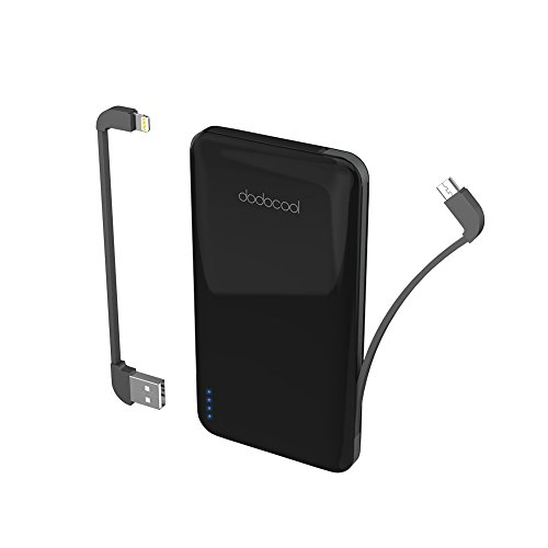 dodocool 10000 mAh Power Bank, Ultra Slim 2-Port Portable Power Bank and Micro-USB Cable for iPhone X/8 Plus/8/7 Plus/7/iPad/iPod and Android & more (MFi Certified)
