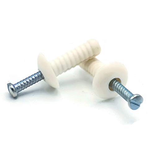 "Nylon Hammer Drive Pin Nail in Masonry Concrete Anchors Zinc Nail 1/4"" x 3/4"" Qty 100"
