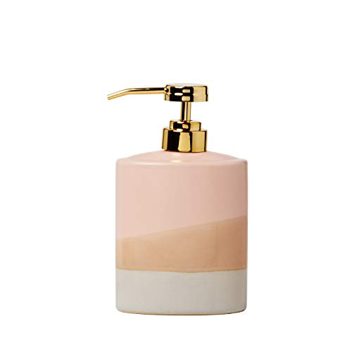 SKL Home by Saturday Knight Ltd. Alanya Lotion Dispenser, Blush (Pink Soap Dispenser)