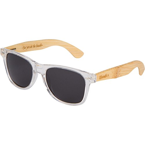c0cbedcf9b WOODIES Bamboo Wood Sunglasses with Clear Plastic Frames - Buy ...