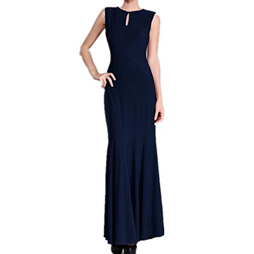 Robe Color Rond Size Color L Longue Blue Pure Dos Navy Longue Color col Coffee Jupe Ouvert Femme Mince Isbxn PYgwpqE