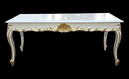 Casa Padrino Barock Couchtisch Weiß/Gold 120 X 60 Cm Mod2   Antik Look