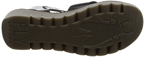 Fly London Womens Yeri909fly Wedge Sandal Svart Brindle