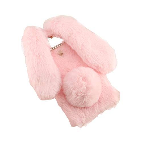 LG G6 case,Mobile Shell Plush Rabbit Series Autumn and Winter Rex Rabbit Cute Plush Fashion Comfortable Warm Hand Cover for LG ()