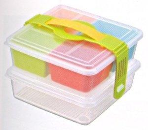 INOMATA 2-Tiers Picnic Lunch Bento Box
