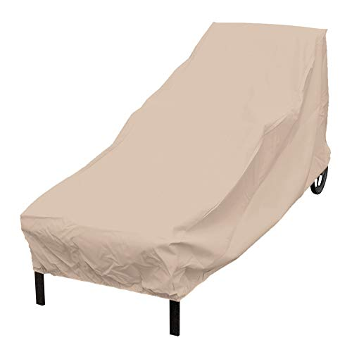 Lounger Tamarack - Elemental Tan Polyester Weatherproof Chaise Lounge Cover Patio Chair Cover up to 76 inches