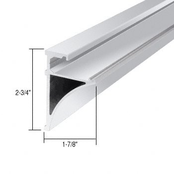 Brite Anodized 96'' Aluminum Shelving Extrusion for 3/8'' Glass