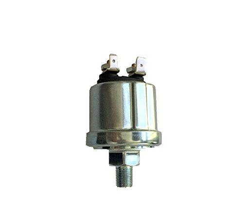 IIL VDO Type Oil Pressure Sender, 0-80 psi, 10-180 ohms, w/16 psi Low Alarm Switch