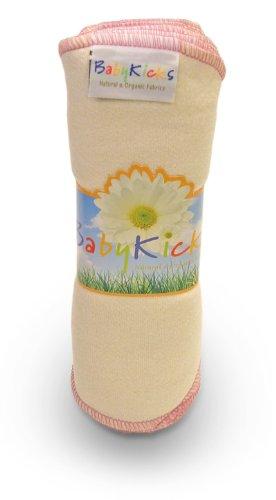BabyKicks Natural & Organic 10 Pack Baby Wipes, Pink