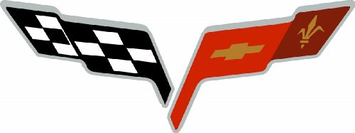 Unlimited C6 Universal Cross Flag Emblem DECAL ()
