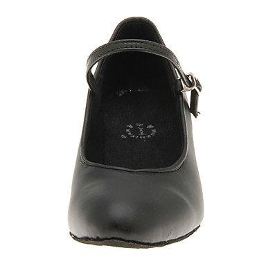 Us5 Falso Preto Couro Cn Dança Sapatos 5 Moderna Eu 35 Bonitas Mulheres Superior Uk3 Xiamuo A 5 36 Do Itvg7x1w