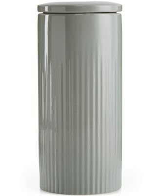 Hotel Collection Modern Porcelain 2-Pc. Large Canister