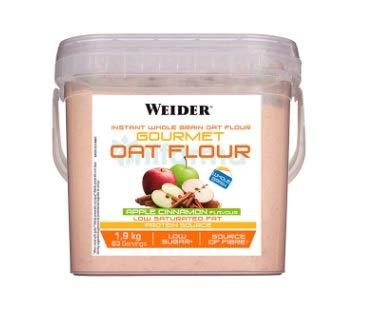Weider WJW.209122 Oat Gourmet Flour (Harina de Avena) Apple Cinnamon 1,9 Kg