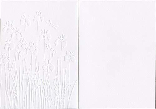 BA-D179 - Iris Border Bug Art Blank Card - Embossed /& Foil Finish Suitable for Birthdays /& Other s Artistic