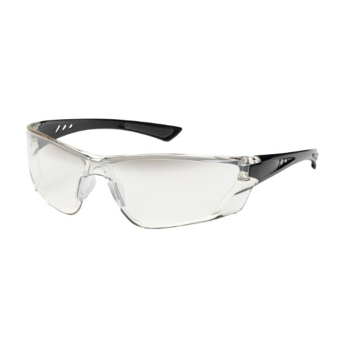 Recon 250-32-0031 Rimless Safety Glasses with Gloss Black Temple, Gradient Lens and Anti-Scratch/Fogless Coating -
