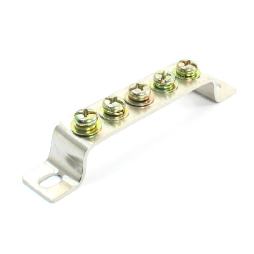 Bridge Design 5 Position Terminal Block Bar Electric Cable Connector Bridge Position