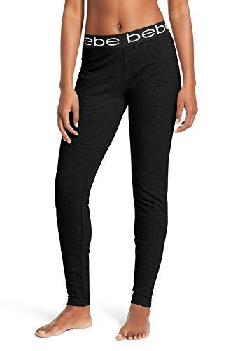 Plus Size Bebe (bebe Womens Jogger Lounge Sleep Pajama Pants Black)