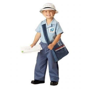 Mr. Postman Costume - Toddler (Mailman Costume For Kids)