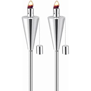 Anywhere Garden Torch - Stainless Steel Cone Shape Garden Torch (2 pack)